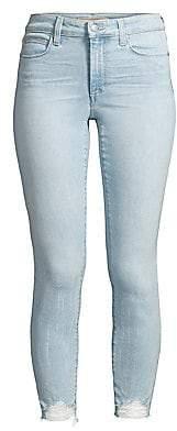 Joe's Jeans Women's Charlie Distressed Hem Skinny Crop Jeans