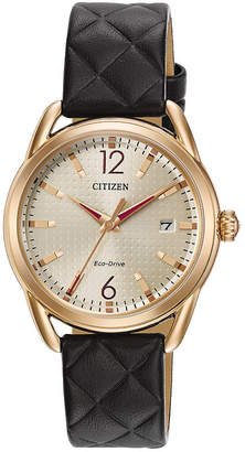 DRIVE FROM CITIZEN ECO-DRIVE Drive from Citizen Womens Black Strap Watch-Fe6083-13p