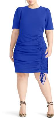 Rachel Roy Scuba Crepe Back Minidress
