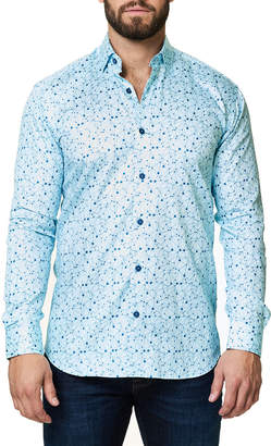 Maceoo Shaped-Fit Luxor Webspread Planetraw Sport Shirt