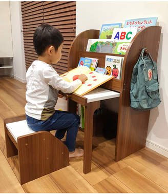 Na Kids(ネイキッズ) ブラウン 絵本ラック&デスクチェアー