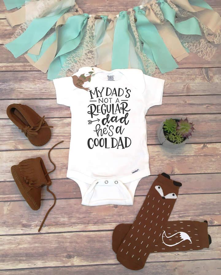 Etsy My Dad's Not a Regular Dad He's a Cool Dad Onesie®, I Love My Daddy Shirt, Dad Onesie, Unisex Baby C