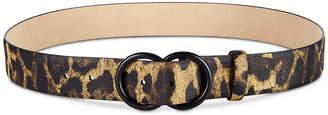 Steve Madden Leopard-Print Pant Belt