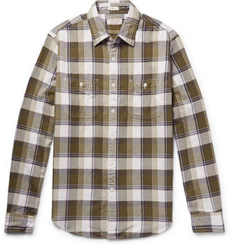 83b0919fc02e1 J.Crew Wallace   Barnes Slim-Fit Checked Cotton-Flannel Shirt