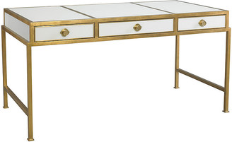 Clifton Writing Desk - Gold/White - Lillian August