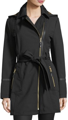 Via Spiga Hooded Zip-Front Soft-Shell Trenchcoat $145 thestylecure.com