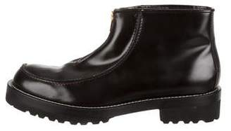 Marni Leather Zip-Up Ankle Boots