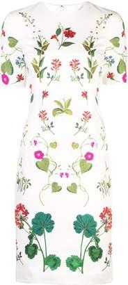 Oscar de la Renta Botanical print pencil dress