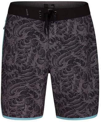 "Hurley Men's Phantom Kanpai Wave-Print 18"" Board Shorts"