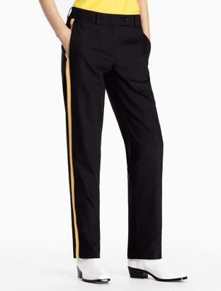 Calvin Klein striped cotton stretch woven suit pants