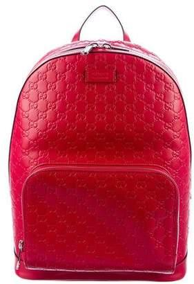 Gucci 2016 Guccissima Signature Backpack