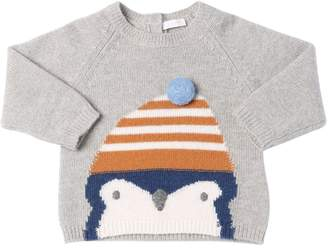 Il Gufo Penguin Intarsia Wool Knit Sweater