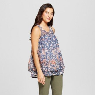 Knox Rose Women's Floral Printed Mesh Tank $22.99 thestylecure.com