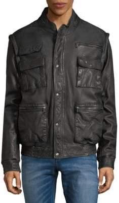 Vince Flight Leather Bomber Jacket