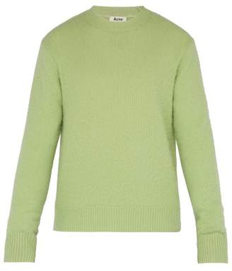 Acne Studios Peele Wool And Cashmere Blend Sweater - Mens - Light Green