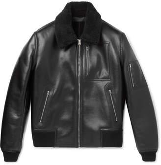 Stella McCartney Liam Faux Leather Bomber Jacket