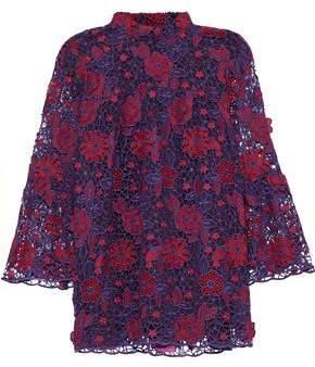 Anna Sui Cotton Guipure Lace Top