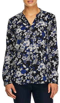 Haggar Floral Button-Down Shirt