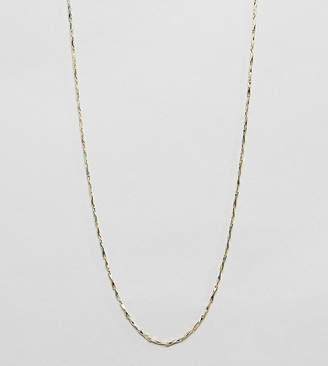 Kingsley Ryan sterling silver gold plated twisted necklace