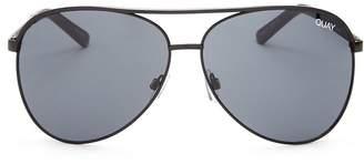 Quay Women's Vivienne Brow Bar Aviator Sunglasses, 65mm