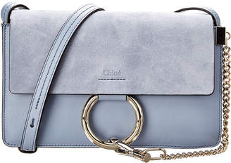 Chloé Small Faye Leather & Suede Shoulder Bag