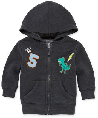 Okie Dokie Dinosaur Fleece Zip Up Hoodie - Baby Boy NB-24M