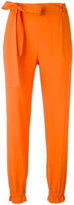 MSGM elasticated cuffs tapered trousers