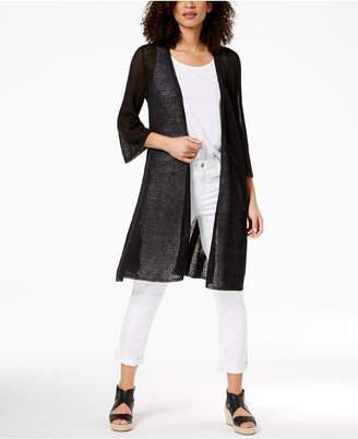 Eileen Fisher Organic Linen Sheer Cardigan