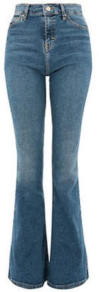 Topshop MOTO Mid Blue Flared Jamie Jeans