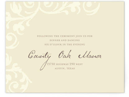 Elegant Flourish Reception Cards