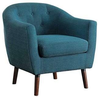 Homelegance Lucille Fabric Upholstered Pub Barrel Chair