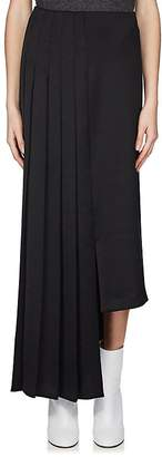Maison Margiela Women's Asymmetric-Hem Pleated Skirt