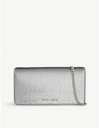 Miu Miu Sequinned leather wallet-on-chain