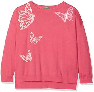 Benetton Girl's Sweater L/s Jumper,(Manufacturer Size: X-Large)