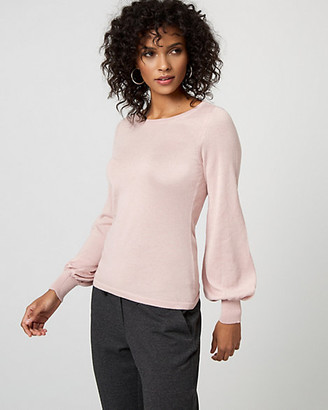 Le Château Viscose Blend Bishop Sleeve Sweater
