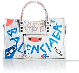 Balenciaga Women's Arena Leather Small City Bag - White