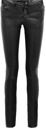 Helmut Lang - Stretch-leather Skinny Pants - Black $1,295 thestylecure.com