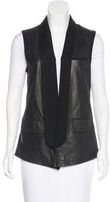 Yigal Azrouel Leather Embossed Vest
