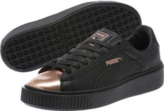 Basket Platform Metallic Womens Sneakers