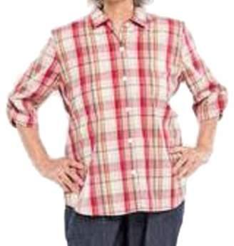 Benefit Cosmetics Wear Womens Adaptive Shoulder Snap Blouse