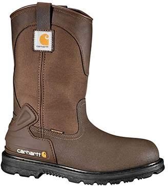 """Carhartt Men's 11"""" Wellington Waterproof Steel Toe Leather Pull-On Work Boot CMP1270"""
