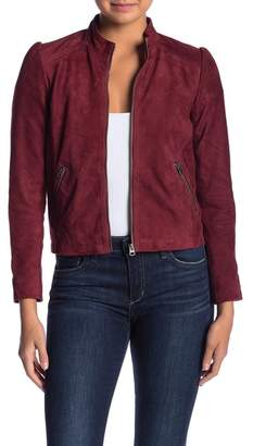 Lucky Brand Suede Puff Sleeve Jacket