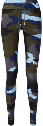 The Upside Abstract Camouflage-print Stretch Leggings - Blue