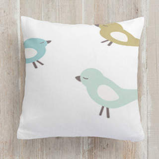 baby birds Self-Launch Square Pillows