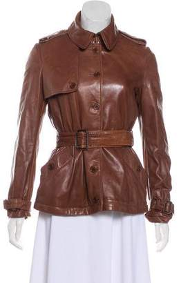 Philosophy di Alberta Ferretti Two-Tone Leather Jacket