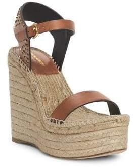 Saint Laurent Espadrille Platform Wedge Sandals