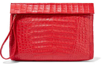 Nancy Gonzalez Crocodile Clutch - Red