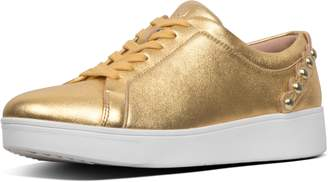 FitFlop Rally Scallop Metallic Leather Sneakers