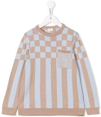 Fendi mixed-print jumper