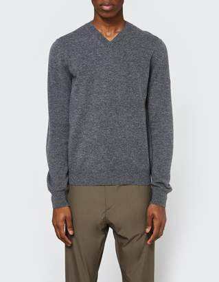 Comme des Garcons Play V-Neck Pullover in Grey